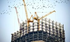 Building site with cranes